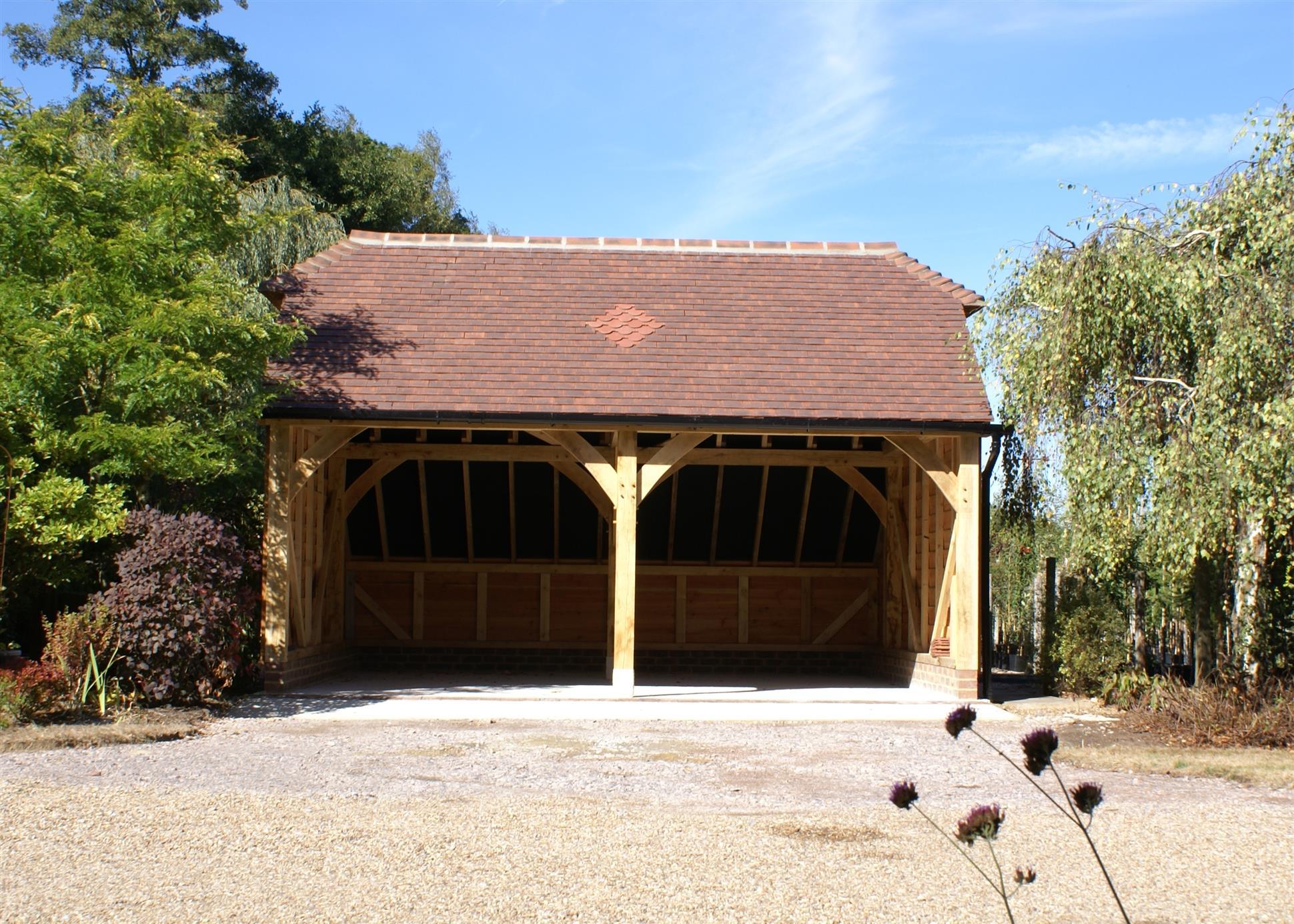 2 Bay Garage Catslide Barn Hip Roof