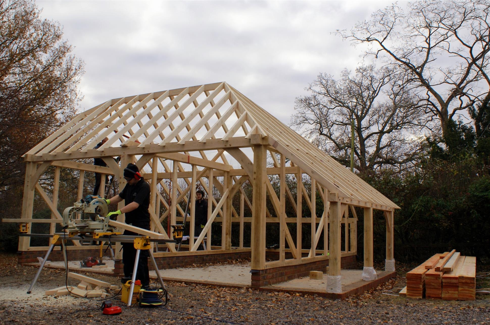 roof hip garage barn bay store log designs width height