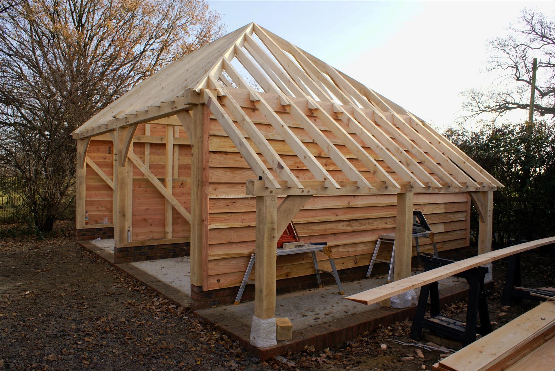 2 Bay Garage Log Store Full Hip Barn Hip Roof