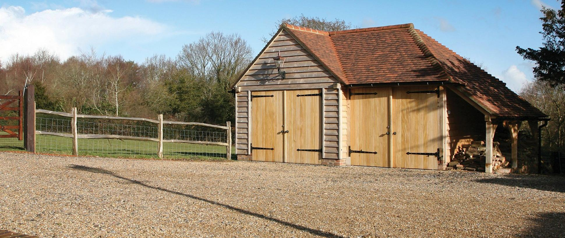 2 Bay Bespoke Garage & Log Store