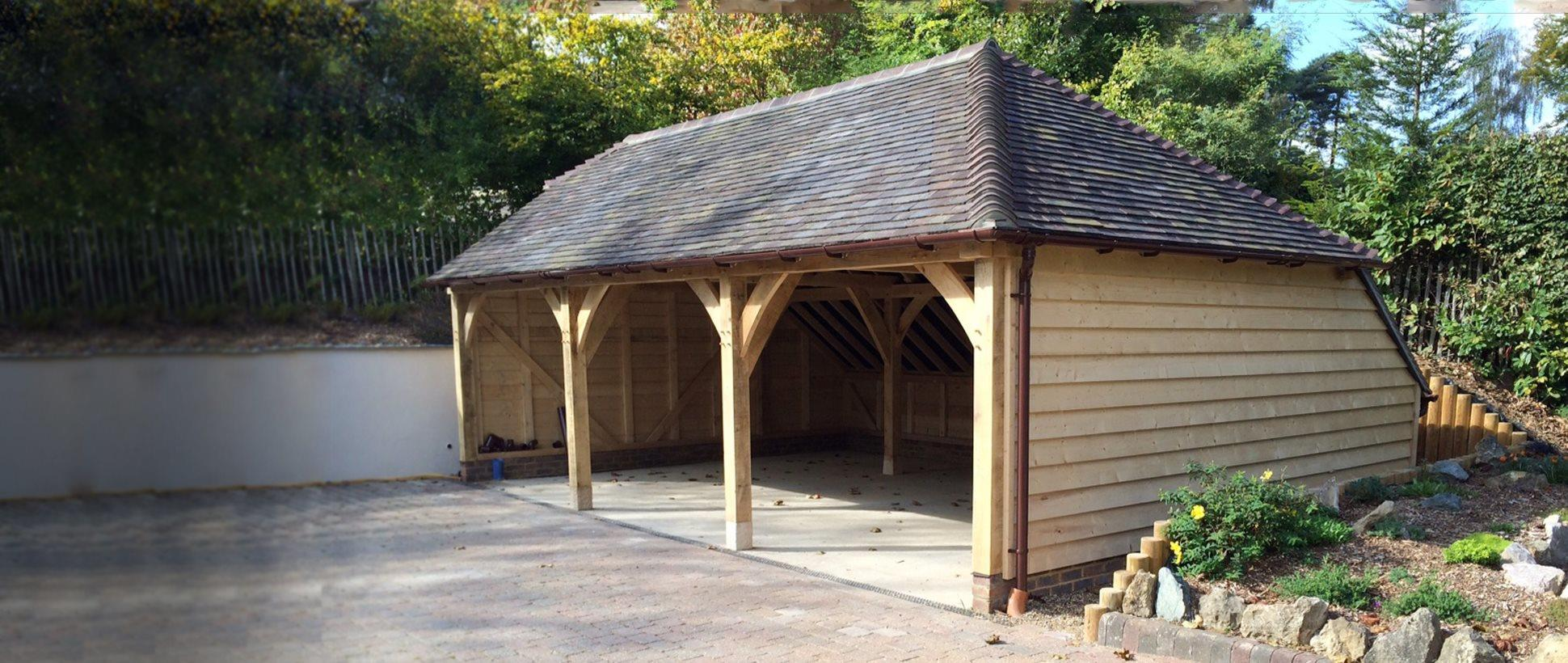Acorn 3 Bay Amp Catslide Roof Oak Designs Co