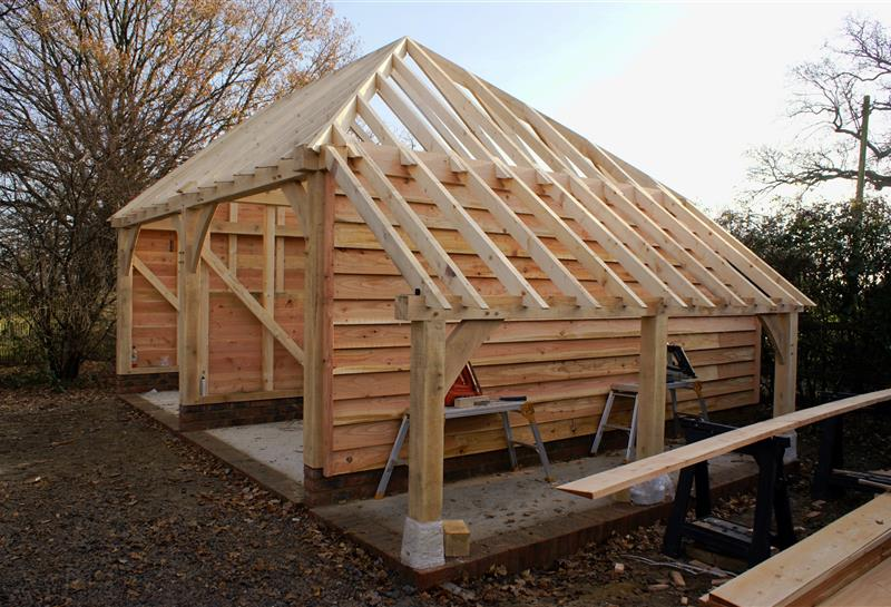 2 Bay Garage Log Store Full Hip Barn Hip Roof