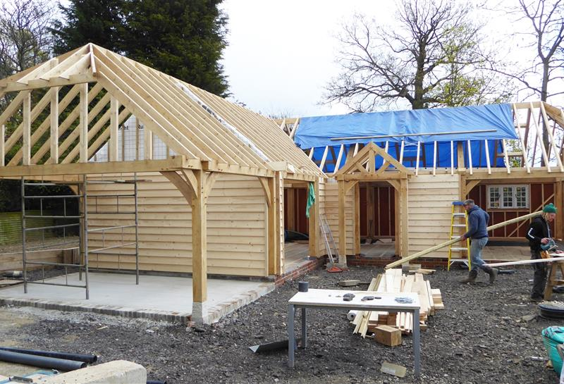 Annexe build on site