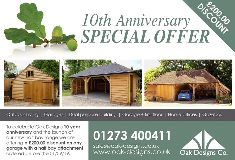 Oak Designs 10 Year Anniversary
